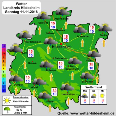Wettervorhersage Hildesheim